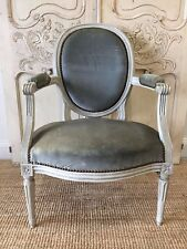 French Antique Louis Style Parlour Chair Armchair Medallion c1800's - TM055a