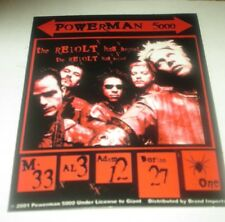 POWERMAN 5000 STICKER NEW EARLY 2000'S VINTAGE OOP RARE COLLECTIBLE