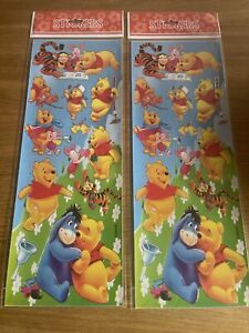 2 x Sticker Sheets Winnie the poo and Tigger Party Bag Fillers Craft Fun