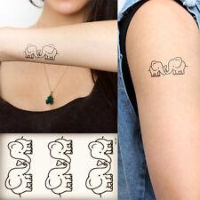 DIY Elephant Couple Love Temporary Tattoos Sticker Body Art Fake Tatoo Unisex