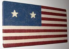 HANDMADE USA AMERICAN FLAG AMERICANA MEMO MEMORY BULETIN BOARD & STAR PUSH PINS