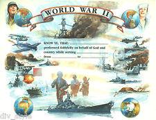 World War II Certificate blank unused mint condition US Naval Institute