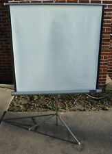 Vintage 1960s Radiant 30� x 40�� Projector Screen with Folding Tripod Stand Nr