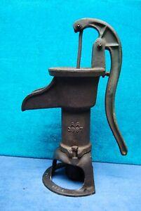 Antique Vintage Primitive Cast Iron Hand Water Pump Sanders Co Elizabeth City NC