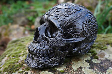 347069 FIGURINE  CRANE TETE DE MORT  RELIEF NOIR GOTHIQUE HEROIC FANTASY