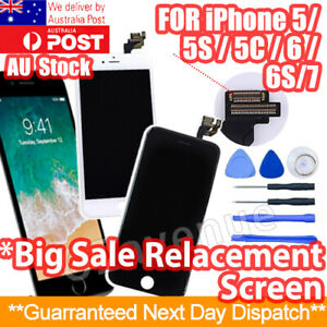 For iPhone 5S 6 7 8 Plus LCD Touch Screen Replacement Digitizer Display Assembly