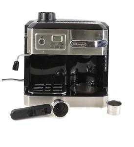 DeLonghi All-in-One Cappuccino Espresso and Coffee Maker BCO330T Black Silver