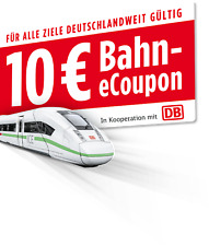 █ 10 Euro eCoupon Gutschein Deutsche Bahn Knoppers bis 11.12.2021 MBW 29,90 Euro