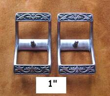 """2 Jeremiah Watt Horse Shoe 1"""" Conway Buckles for Breast Collar, Headstall, Reins"""