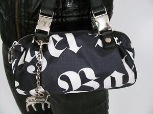 LE SPORTSAC x GWEN STEFANI L.A.M.B. MINI PURSE EVENING BAG BLACK WHITE NYLON