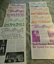 8 St Louis Wrestling Club Programs,1976-80 Kiniski, Race,LANZA,Ladd, Flair, FUNK