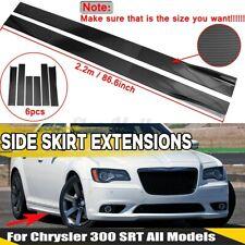 For Chrysler 200 / 300 Side Skirts Extensions Body Kit Splitters Carbon Fiber