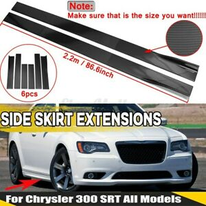 For Chrysler 200 / 300 Side Skirts Extensions Body Kit Splitters Carbon Fiber
