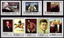 Sharjah 1968 ** mi.448/55 a pinturas pinturas Homer Rockwell Wood Remington
