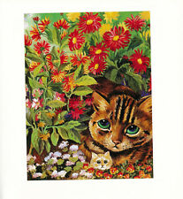 Louis Wain Cat Art Vintage Book Plate Print Suitable for Home Decor Wall Hanging