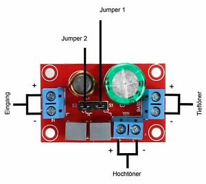 Frequenzweiche Spule Kondensator Weiche Tieftöner Hochtöner 150 Watt 4 - 8 Ohm