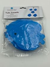 Comfort Bay Blue Fish Tub Treads 5 Pieces For Tub or Shower Removable