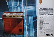 PUBLICITÉ DE PRESSE 1966 ORGUE PHILICORDA GM 755 DE PHILIPS - ADVERTISING