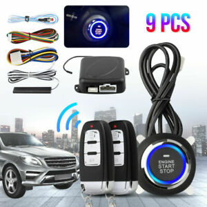 Two-Way Anti-Theft Push Start Stop Car Alarm Systems Key-less Entry