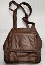 Dark Brown Woman's Leather Purse Backpack Handbag Brown