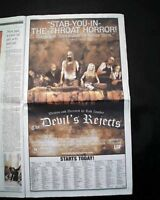 Best THE DEVIL'S REJECTS Rob Zombie Cult Movie Opening Day AD2005 L.A. Newspaper