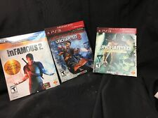 (3) PS3 Games Collection PlayStation 3 Infamous,uncharted 2,uncharted Drake