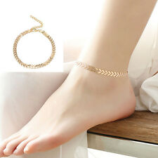 Popular Women Gold Barefoot Coin Ankle Chain Anklet Bracelet Foot Jewelry Beach