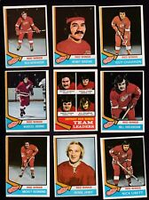1974 O-Pee-Chee Team SET Lot of 19 Detroit RED WING EX/MT OPC DIONNE Alex Red