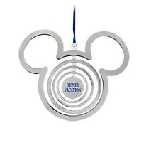 Disney Store Parks Authentic Mickey Mouse Icon Vacation Christmas Ornament New