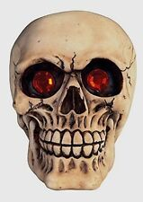 """SKULL-,""""SMILLING""""--WITH GLOWING RED EYES  6 x 5 INCHES"""