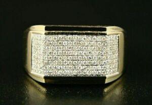 ENGAGEMENT & WEDDING MULTI DIAMOND RING 14K YELLOW GOLD FILLED 2.69 CT DIAMOND