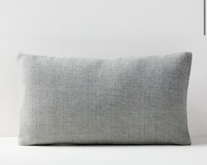 1 Pillow Cover West Elm Silk Handloomed Pillow Cover 20x20 Stone White NEW