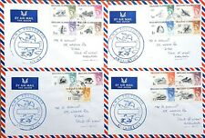 1968 Falkland Is. bird set on 4 covers HMS PROTECTOR