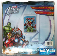Calda Trapunta Piumone Invernale Avengers Iron Man Hulk Thor  Originale 2016