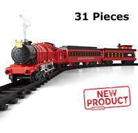 31 Piece Electric Train Set Controller Light Sound Smoke Engine 3 Car Locomotive