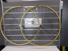 "NOS Vintage Mavic OR10 Gold Rims Campagnolo Gipiemme 8 Speed 28""700 32h 130mm"