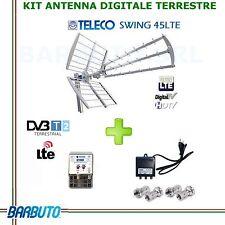 KIT ANTENNA DIGITALE TERRESTRE UHF DVBT FILTRO LTE, AMPLIFICATORE, ALIMENTATORE