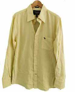 ABERCROMBIE & FITCH YELLOW  ' MUSCLE FIT ' SHIRT - Size XL