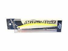 "NEW LONG JERK ""ALICE'S BAIT"" MINNOW 140 SLIM SINKING COLOR: AP39 WHITE YELLOW"