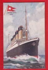White Star Line, S.S. TITANIC-  Shipping Postcard By Tucks, no 9898