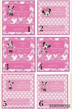 10 Birthday Minnie Mouse Hershey Candy Bar Wrappers Free Shipping