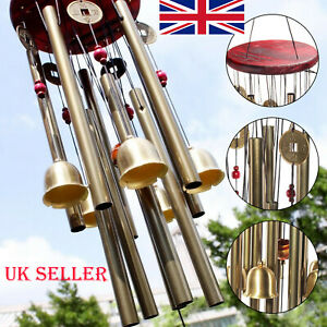 Large Wind Copper Bells Chimes Garden Yard Outdoor Home Decor Tubes Ornament