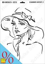 Schablone-Stencil A3 289-5275 Fashion Queen 1 -Neu- Heike Schäfer Design