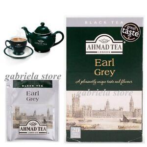New in box Ahmad Tea English Black Earl Grey 20 Tea Bags 40g (20pcs X 2g)