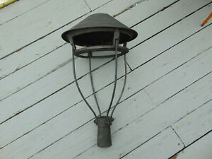 Antique 1866 MINER'S Pat E A HEATH NY Cast Iron Yard Street Lantern Light Frame