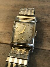 Vintage ELGIN Caldwell Art Deco Watch 10K RGP Watch Running