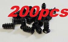 200pcs (Pack of 200) Black Fan Screws PC Case Fan Mounting or Grill Guard Screw