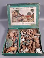 vintage wooden victory farmyard jigsaw puzzle  cut out animals 40s 50s retro