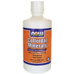 Now Foods COLLOIDAL MINERALS Fulvic Acid Trace Minerals - 32 fl oz Water Soluble