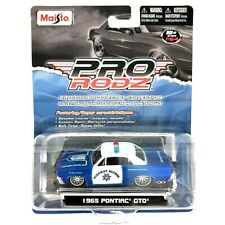 Maisto Pro Rodz Highway Patrol Police 1965 '65 Pontiac GTO Car Blue/White 1/64